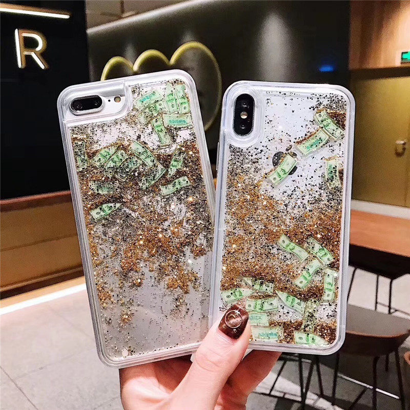 Baseus Custodia rigida con motivo glitterato per iPhone XS Max (Plus)