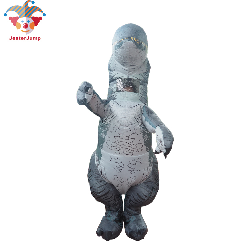Jurassic World Adult Velociraptor Costume Cosplay Fantasy Inflatable T REX Raptor Dinosaur Party Halloween Costume for Women Men (3)