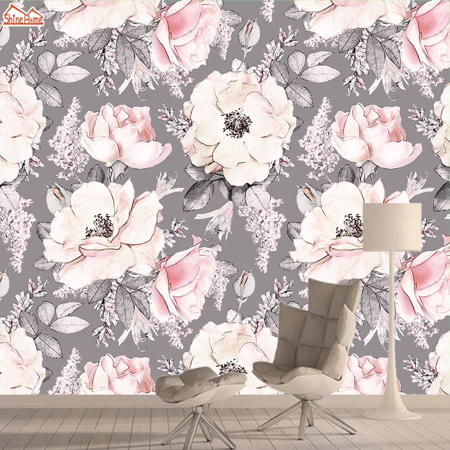 Discount Black Pink Flower Wallpaper Black Pink Flower Wallpaper