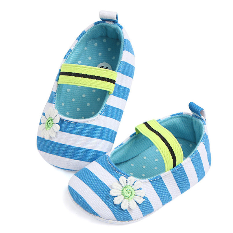 Summer Boys Girls Shoes Infant Kids Girls Baby Stripe Flower Shoes Soft Sole Anti-Slip Shoes First Walker NDA84L25 (19)