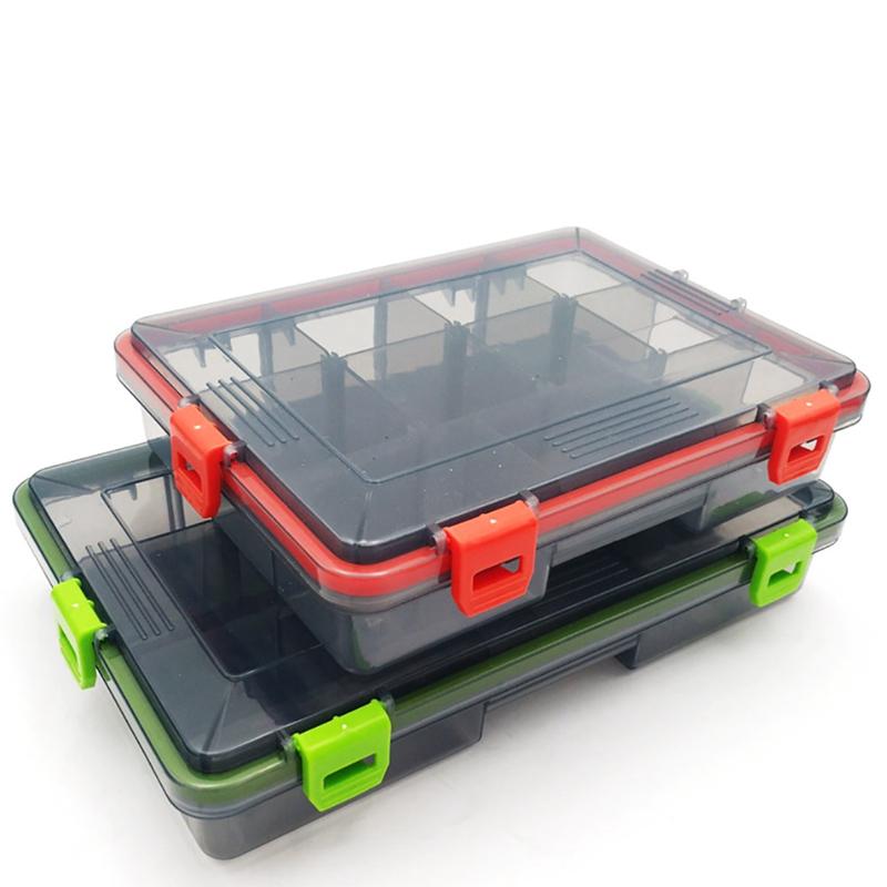 wasserdichter Doppelseitige Plastik Angelger/ät Aufbewahrungsbox Angelzubeh/ör Box Fliegenfischen Fall Angelk/öder Box gro/ßer Fischen K/öder Haken Speicher Kasten Fishing Tackle Box