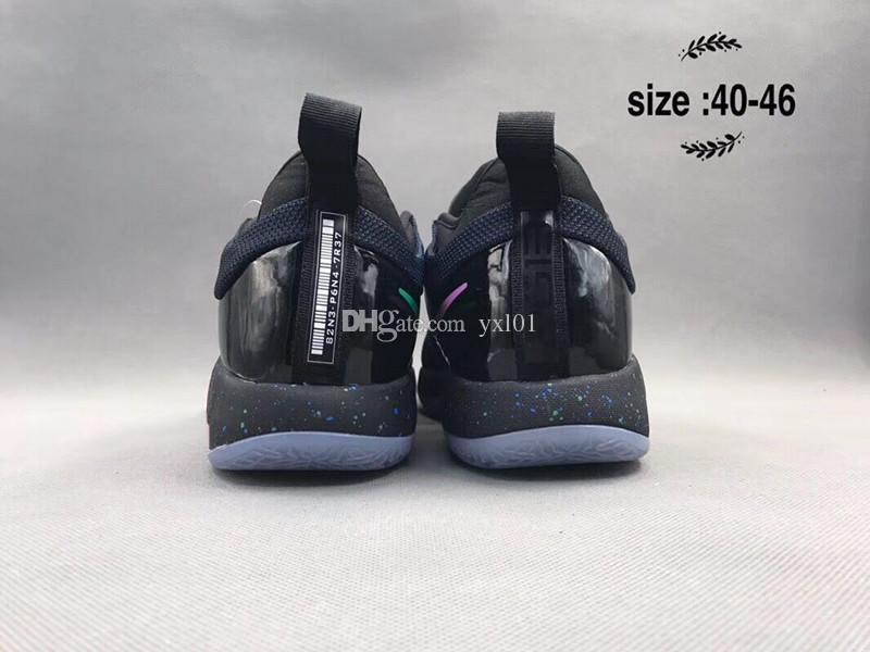 Обновленная правильная версия PG 2 PS Lights UP X темно-синие спортивные баскетбольные кроссовки для мужчин Paul George II PG2 2s спортивные кроссовки США 7-12