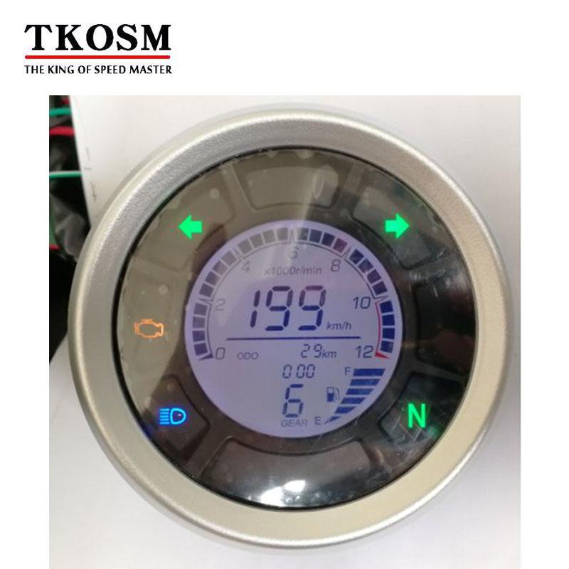 Colorful LCD Motorbike Odometer Tachometer Speed Gauge Sensor 199KMH DC12V Universal Digital LCD Motorcycle Speedometer