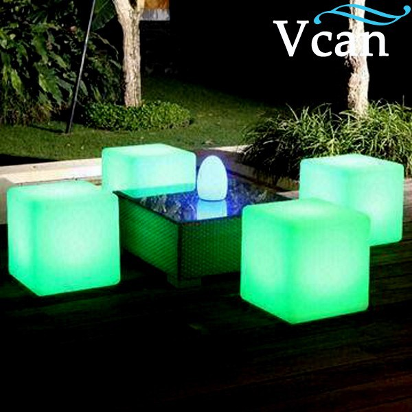 led light garden chair