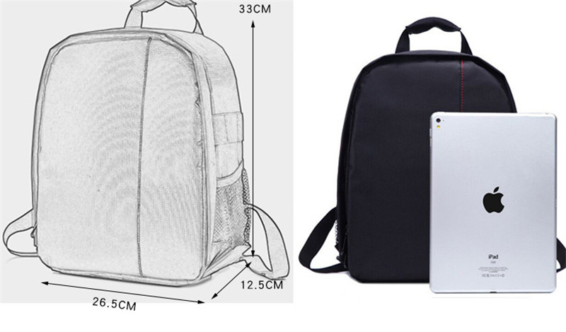 Multi-functional Camera Backpack Video Digital DSLR Bag Waterproof Outdoor Camera Photo Bag Case for Nikon for CanonDSLR (2)