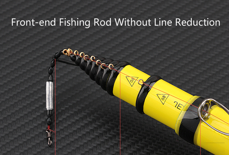 Front-end Fishing Rod 4.5/5.4/6.3/7.2m High Carbon 28 Action Super Hard Positioning Fishing Pole for Sea Hand Dual Use Ultralight Hand Pole
