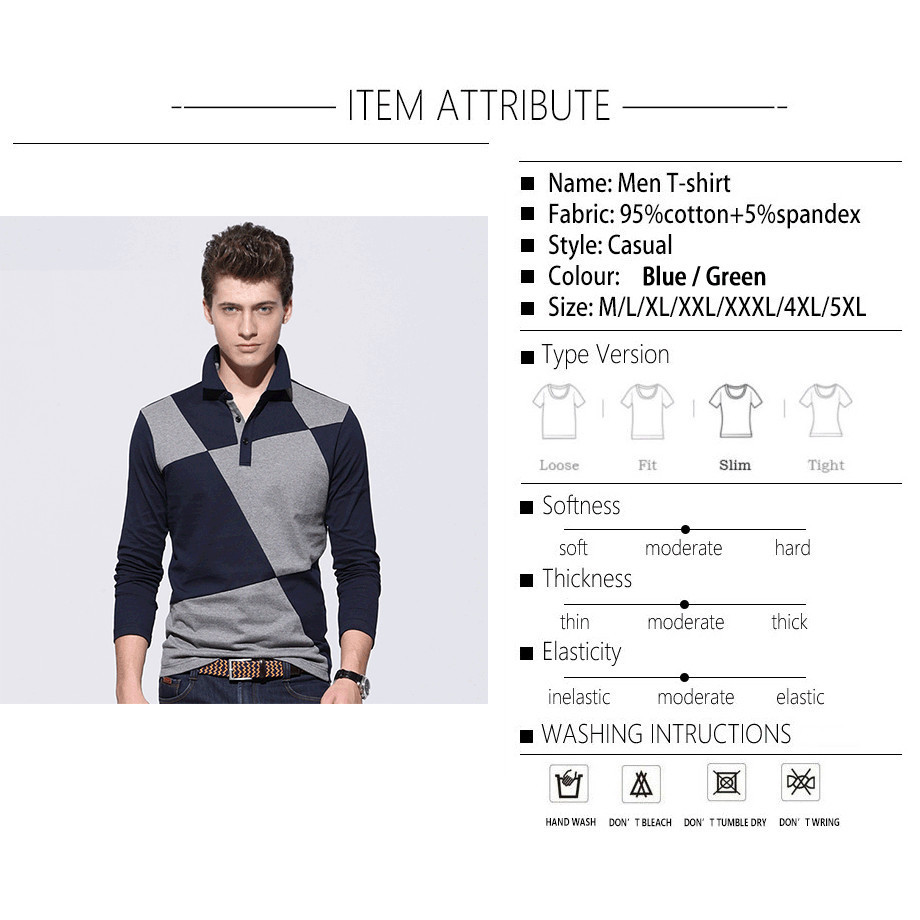 Browon Brand Casual Polo Shirt Men Contrast Color Pattern Long Sleeve Turn Down Color Mens Polo Shirt Brands Mens Clothing