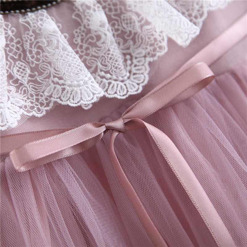 Baby girls wedding dresses spring autumn newborn lace long sleeve princess dress for girls infant birthday party clothes gitls outfits