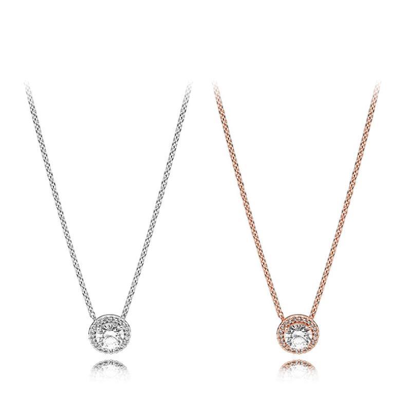 Box Materia flores colgantes de cadenas de plata señora diamantado colgante para cadena