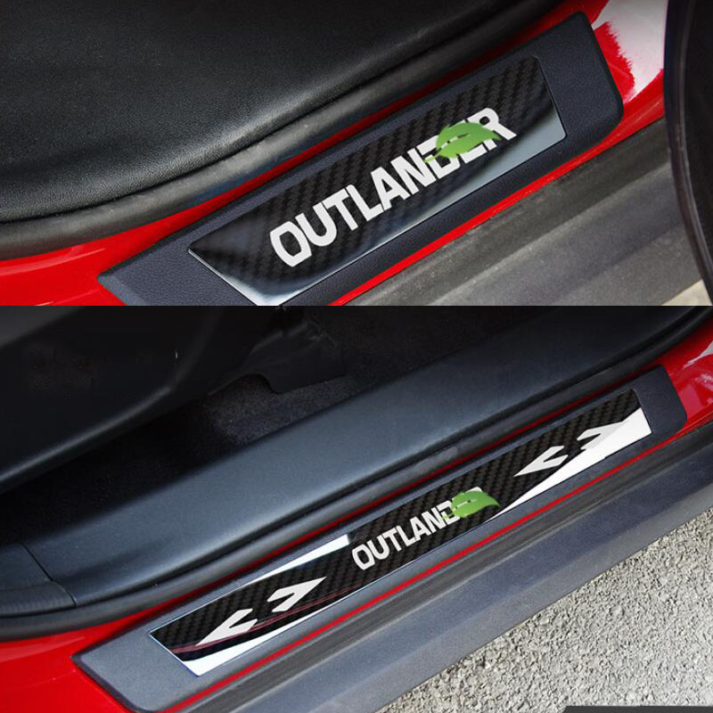 8Pcs Door Sills Scuff Plate Guard Trims Fits for Mitsubishi Outlander 2013-2019