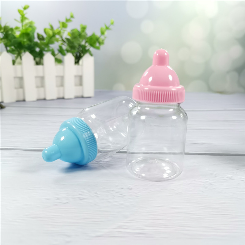 Bomboniere 48 pezzi Bomboniere trasparenti Scatola di bottiglie di caramelle di plastica Bomboniere e regali bambini Decorazione battesimo