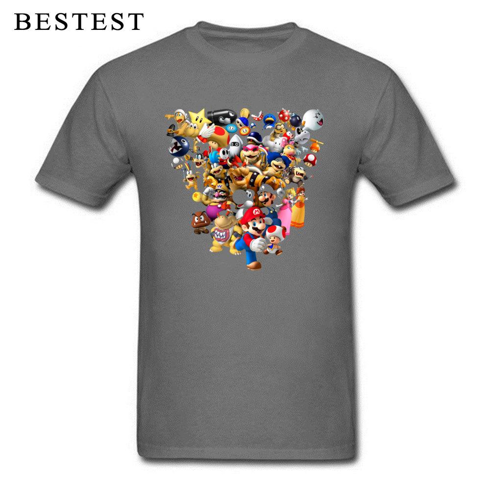 Mario Bros All Star 1825 Summer Fall 100% Cotton Crewneck Tops & Tees Short Sleeve Family Tops T Shirt High Quality T Shirt Mario Bros All Star 1825 carbon