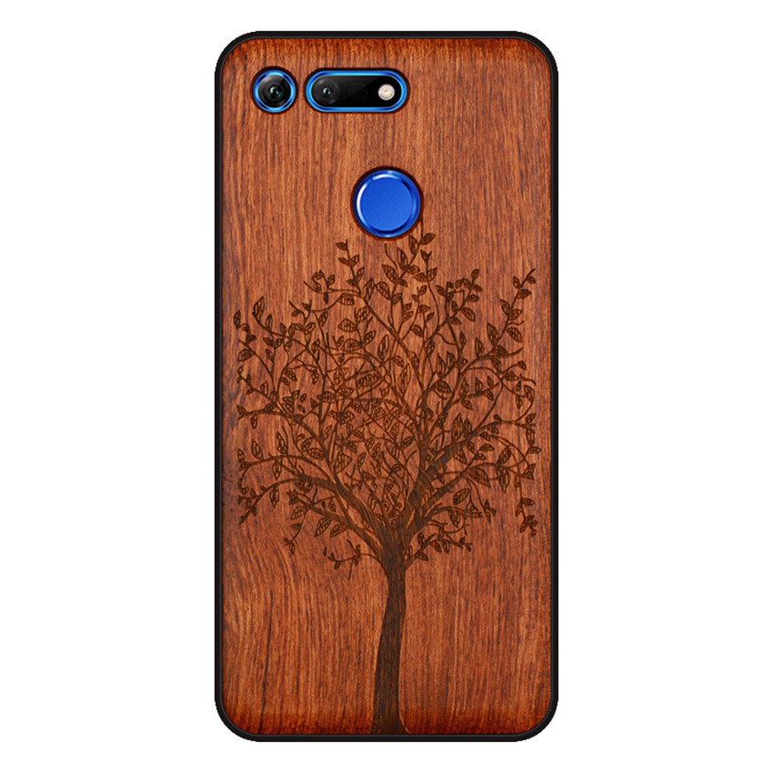 BOOGIC Original Wood Phone Case For Huawei Honor View 20 V20 V10 Wood +TPU Cover For Honor 8x Play 10 Ultra-Thin Wooden Coque (6)