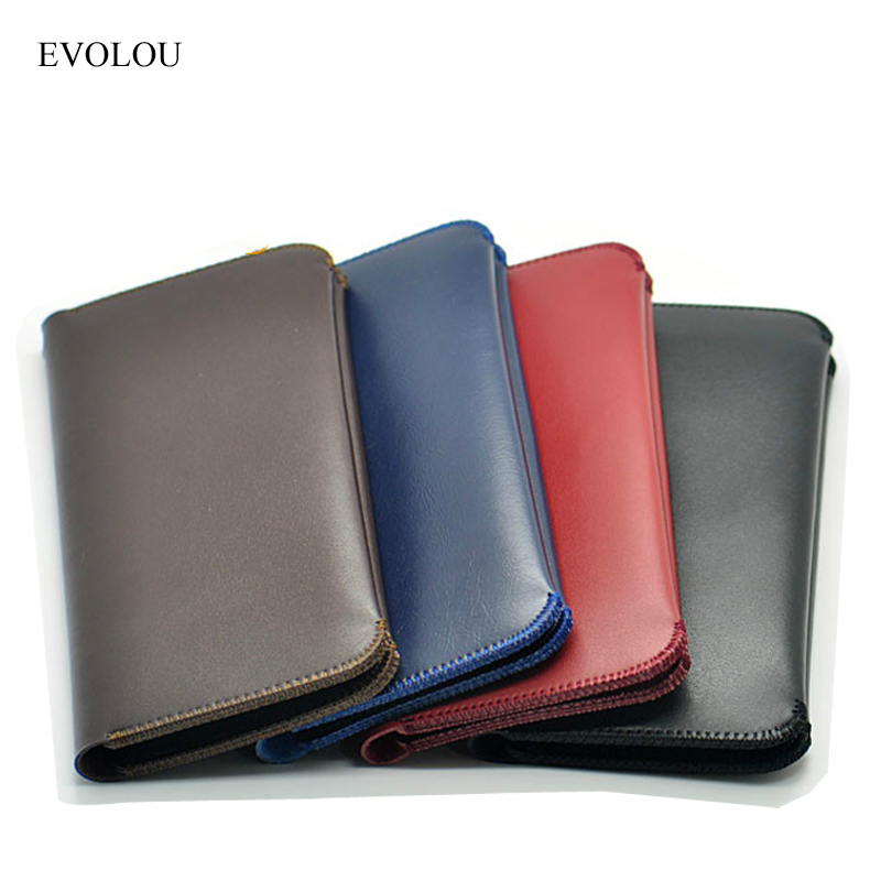EVOLOU Wallet Pouch Cover Leather Case for Xiaomi Mi6 Max Redmi 4x Pro Flip Cover for Iphone Samsung Nokia Universal Phone Bags