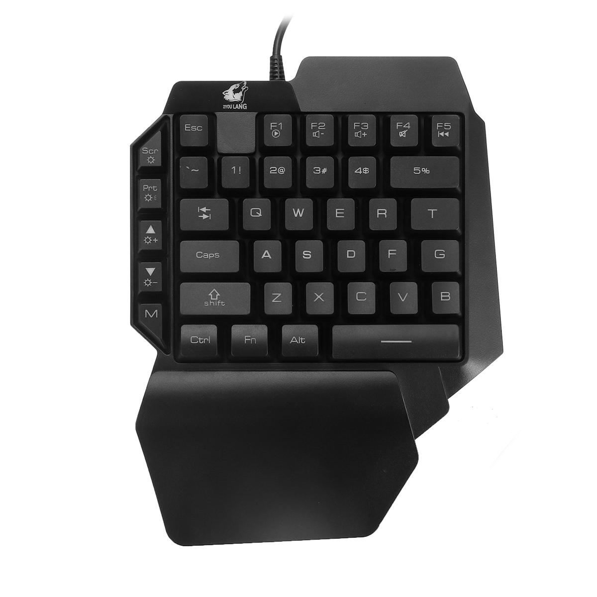 Keyboard Mechanical Hand Punk Keyboard USB Cable Game Peripherals Single Keyboard Game Color : Gray Black Orange Yellow Light Office Eat Chicken Keyboard