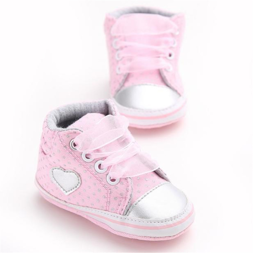 Baby Shoes For Girls Toddler Baby Girl Canvas Heart shape Sneaker Anti-slip Soft Sole Shoes Baby First Walker Shoes M8Y10 (10)
