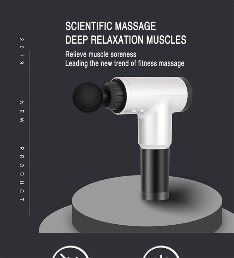 Fascial Gun Muscle Massaging Relax Recovery Soreness Pain Fascia Gun Relief Slimming Shaping Massager 4 Heads Gym Aiding (3)
