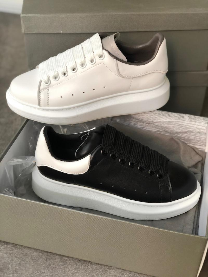 TOP Quality Platform Shoes Designer Sneakers Men Trainers White Leather Suede Sports Sneakers Flat Casual Party Wedding Shoes With Box US 11