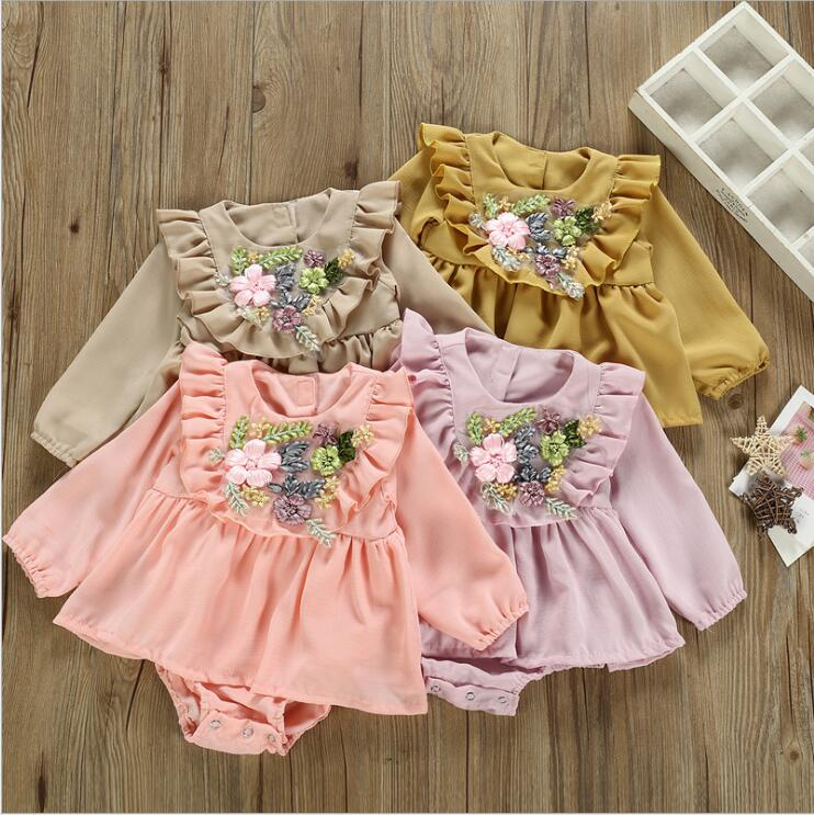 Bonsai Tree Japanese Vintage Baby Girls Summer Dress Outfits Ruffle Short T-Shirt Romper Dress,One-Piece Jumpsuit