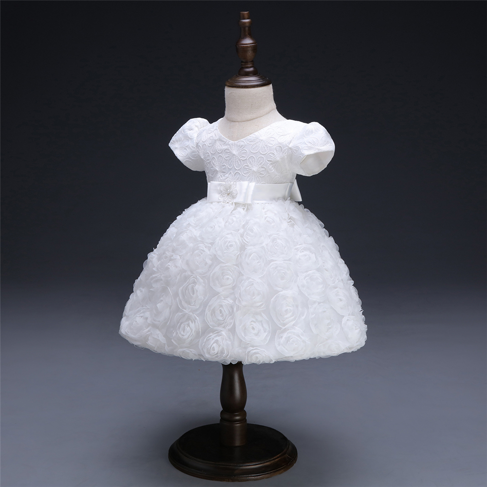 White Baby Dresses Girl Newborn 1st Year Birthday Infant Outfit Cute Princess Party Wedding Christening Dress Gown For Baby Girl (2)