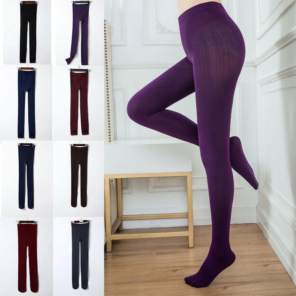 UK/_ Kids Girls Winter Warm Thick Fleece Leggings Trousers Slim Long Pants Conven