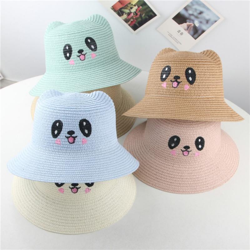 Lace Fisherman Hat Weave Straw Hat Boater Girls Summer Sun Hat Seaside Beac #BUY