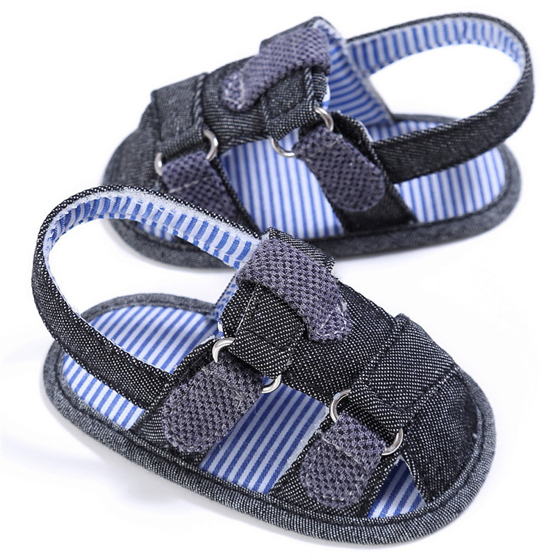 2 Color Summer Fashion Baby Boys Sandals Toddler Infant Kids Baby Boys Canvas Anti-slip Sole Crib Sandals Shoes M8Y02 (5)