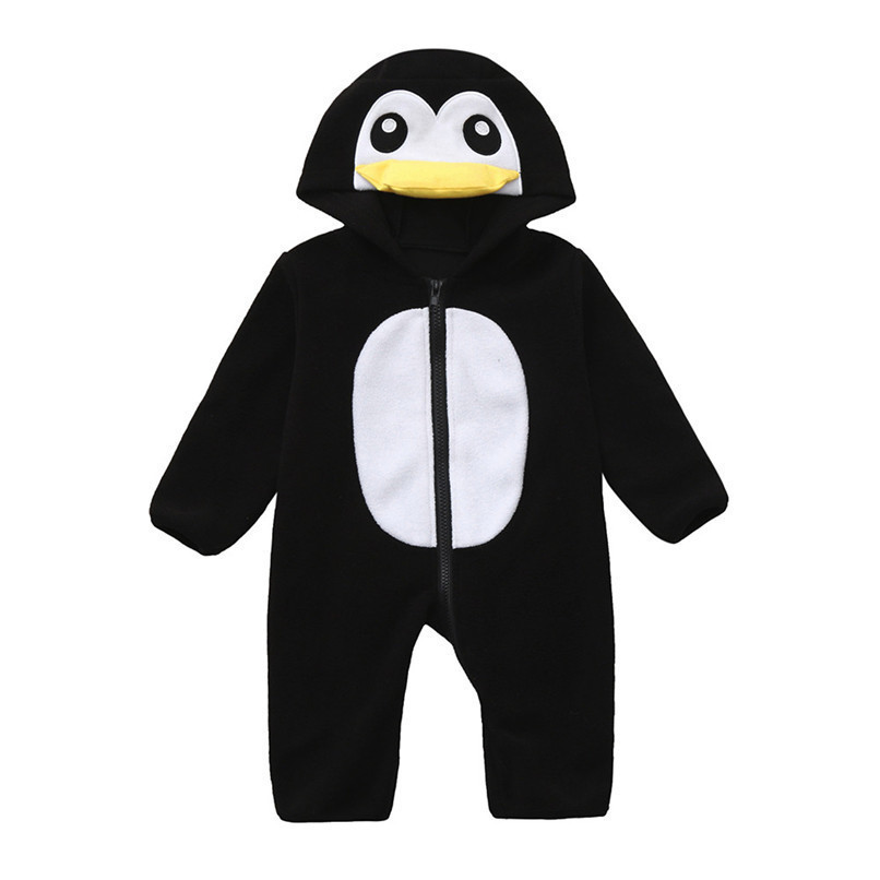 Baby Romper Newborn Baby costume Infant Boy Girl Long Sleeve Cartoon Warm Hoodie Jumpsuit Romper Clothes baby clothes D21 (5)