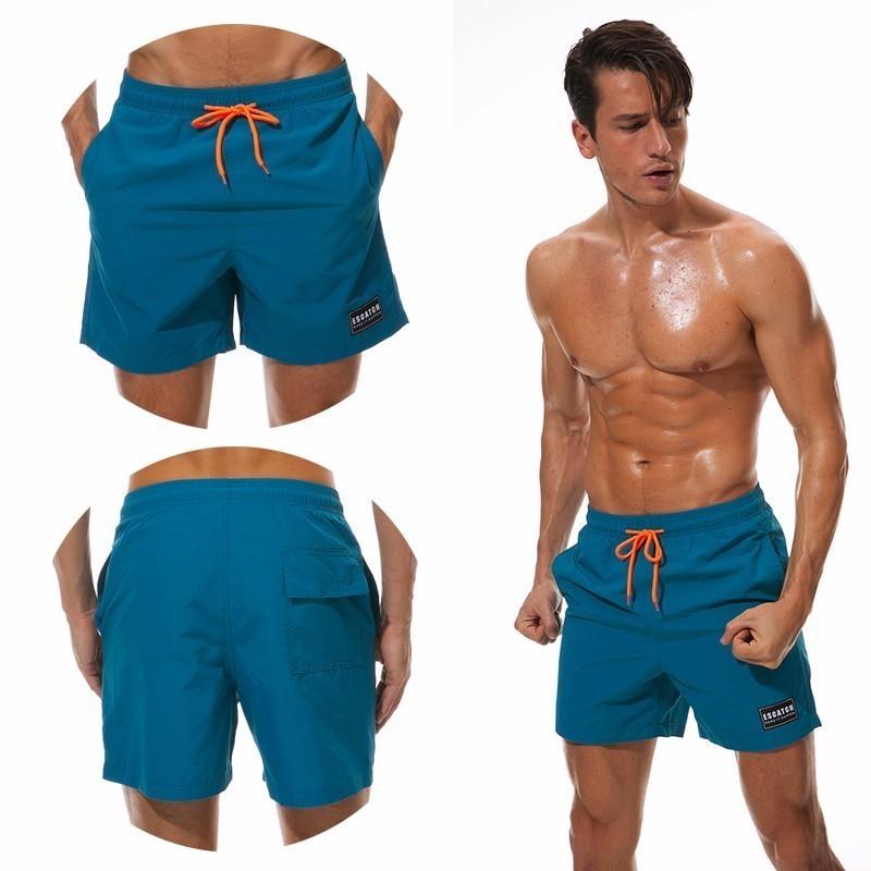 Escard Boardshorts Uomo Beach Board Pantaloncini Quick Dry Swimming Short Costumi da bagno Uomo Bermudas Surfing Swim Wear Mesh Liner Fodera T190709