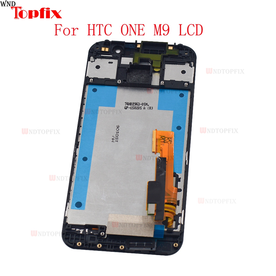 5.0inch 100% Tested For HTC One M9 LCD Display Touch Screen Digitizer Assembly With Frame Replacement Parts For HTC M9 One Hima (3)