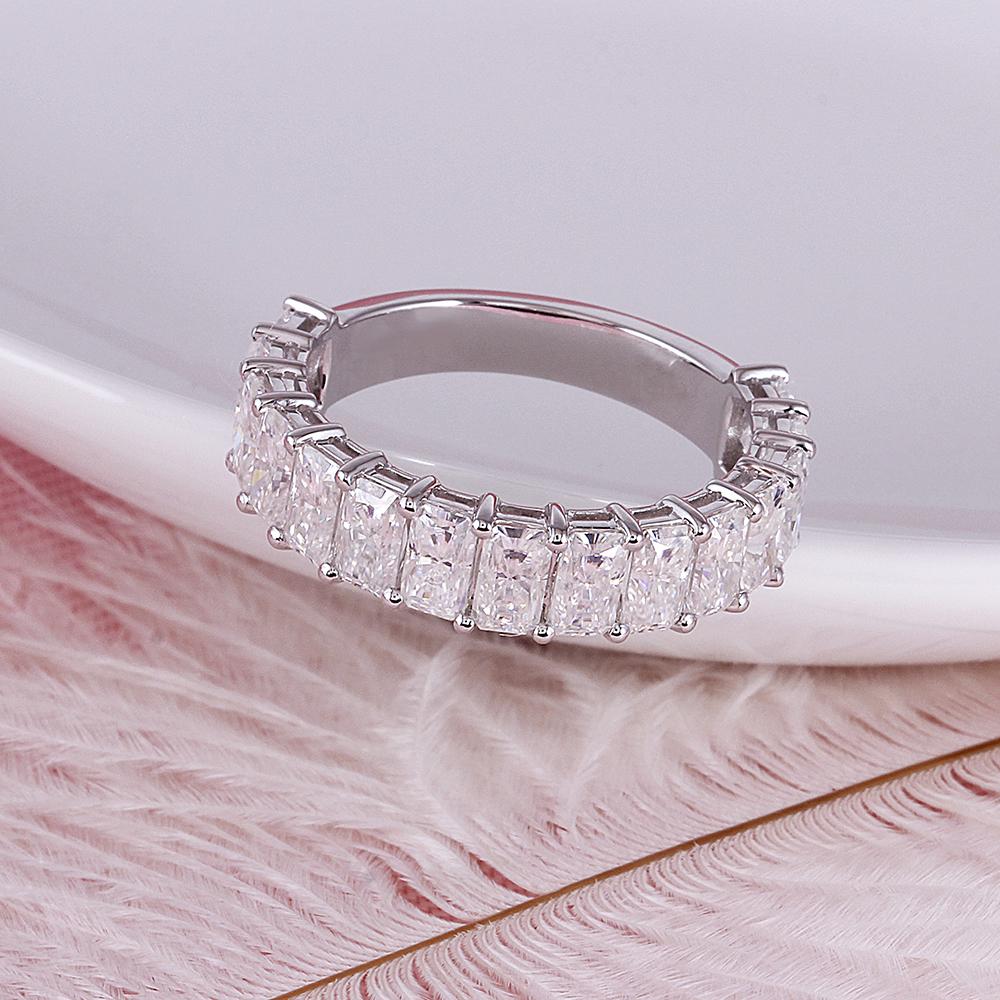 moissanite wedding band- radient cut (10)