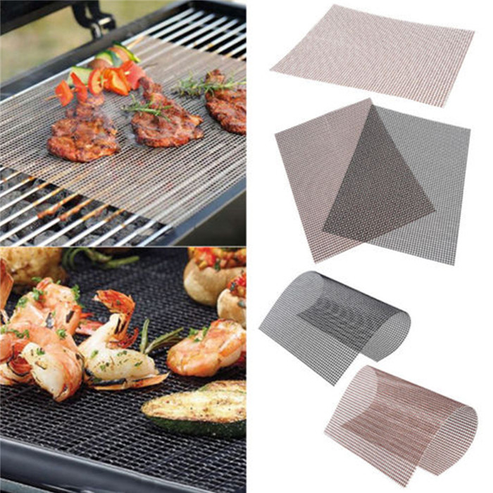 Ronde BBQ Grill Maille Mat Tapis Antiadhésif Grille Pad Non-stick Barbecue Outil