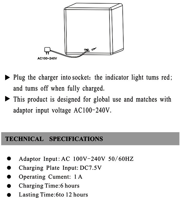User Manual for DC charging