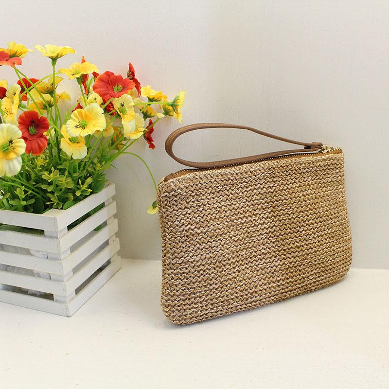 Women Clutch Bags Female INS Popular Summer Beach Straw Bag Lady Travel Mini Messenger Bags Casual Knitted Bolsa Tote SS3133 (11)