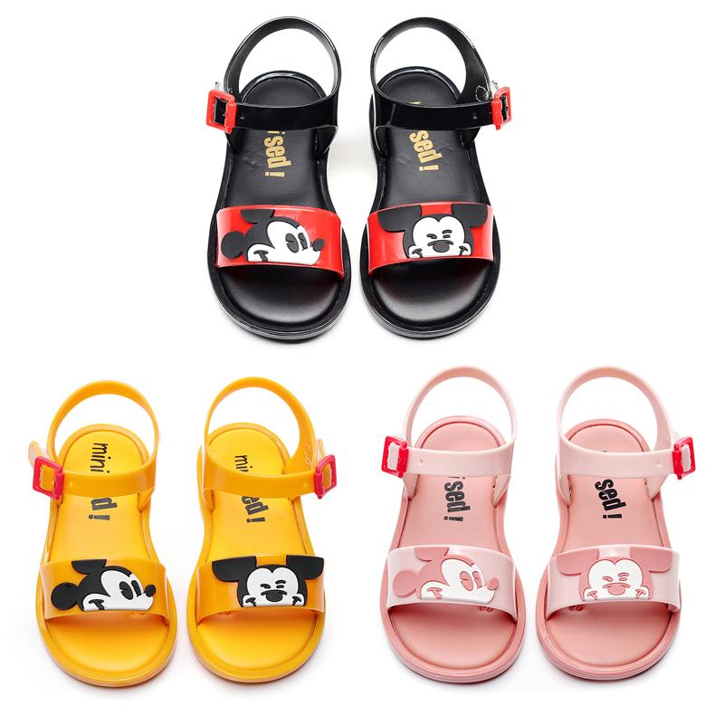 Mini Melissa Mickey Bow Shoes 2019 New Summer Girls Jelly Shoe Girl Non-slip Kids Beach Sandal Toddler Sandals Princess MX190727