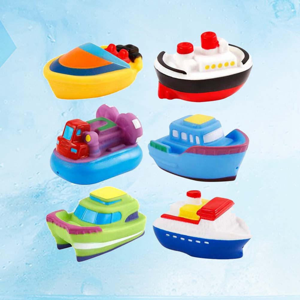 Baby Bath Toys Soft Rubber Boat Kids Water Toys Squeeze Spraying Beach Bathroom Swimming Pool Toys For Kid