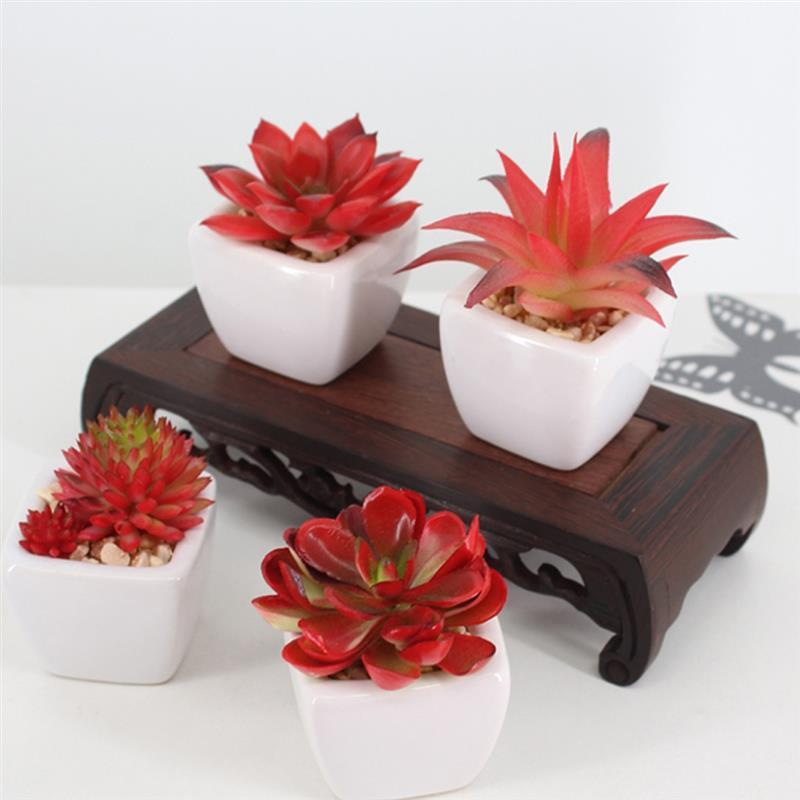 New Artificial Succulent Diy Unpotted Fake Plant Potted Plants Decor Plant Artificial Planters For Home Decor Fake Succulents C19041302