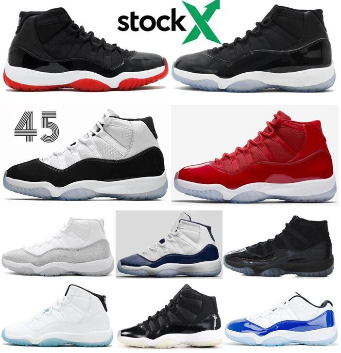 2020 New 11 11s Bred Space Jam Concord 25th Anniversary Basketball Shoes Men 11s Cap And Gown Gym Red 72 10 Sneakers With Box Basketball Shoes Shoes Men From