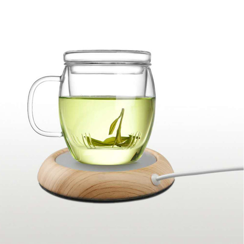 Original USB Wood Grain Cup Warmer USB Heater Beverage Mug Mat Keep Drink Warm Heater Mugs Coaster Warmer Mat