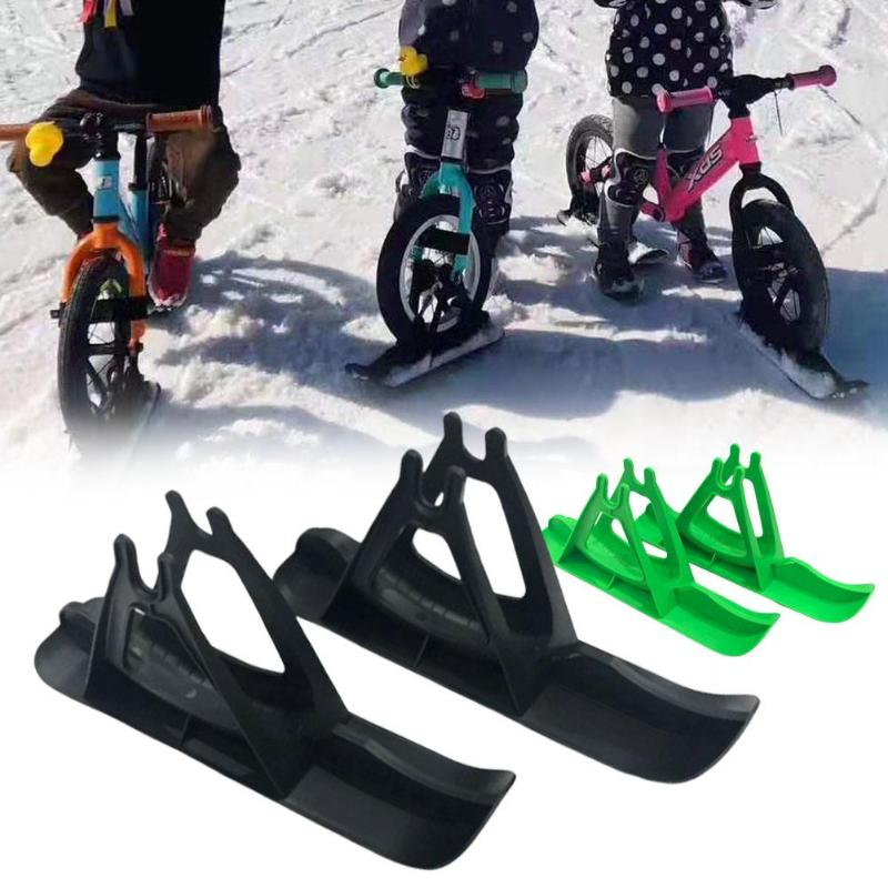 Snow Sledge Board Set for 12 inch Balance Bike Scooter Parts No Pedal Training Bicycle Skiing Walker for Kids and Toddlers