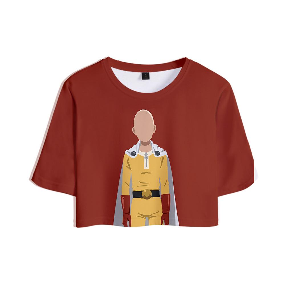 Un coup de poing homme Saison 2 Un coup de poing Superman Seconde saison Loisirs Temps 3D nombril T-shirt Femme Fonds