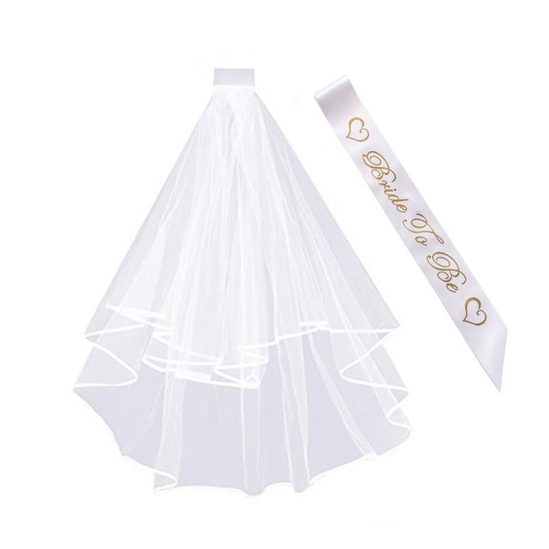 Vestido de fiesta conjunto De Novia A Ser Velo y Negro satinado de novia accesorios fajín Gallina