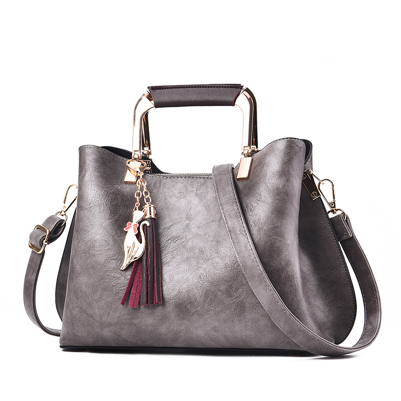 Women Handbags Luxury Designer 2019 Ladies Pu Leather Handbag Messenger New Shoulder Bags Korean Style Tassel Totes Bags Female J190709
