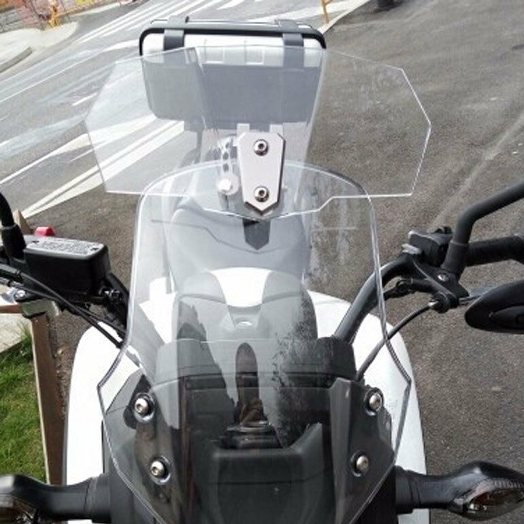 XCJ Parabrisas de Motocicleta Viaja A La Motocicleta Parabrisas Delantero Motocicleta Viento Mosquitera Parabrisas Protecci/ón Pantalla Fit For Ducati Scrambler 2015-2019 Parabrisas Claro Humo Luz