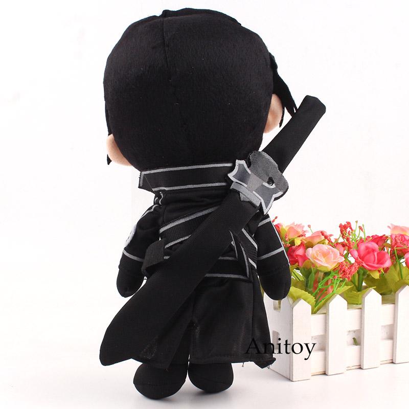 Anime Sword Art Online Plush Toy Kirito Kirigaya Kazuto Plush Doll Stuffed Toy for Children 30cm