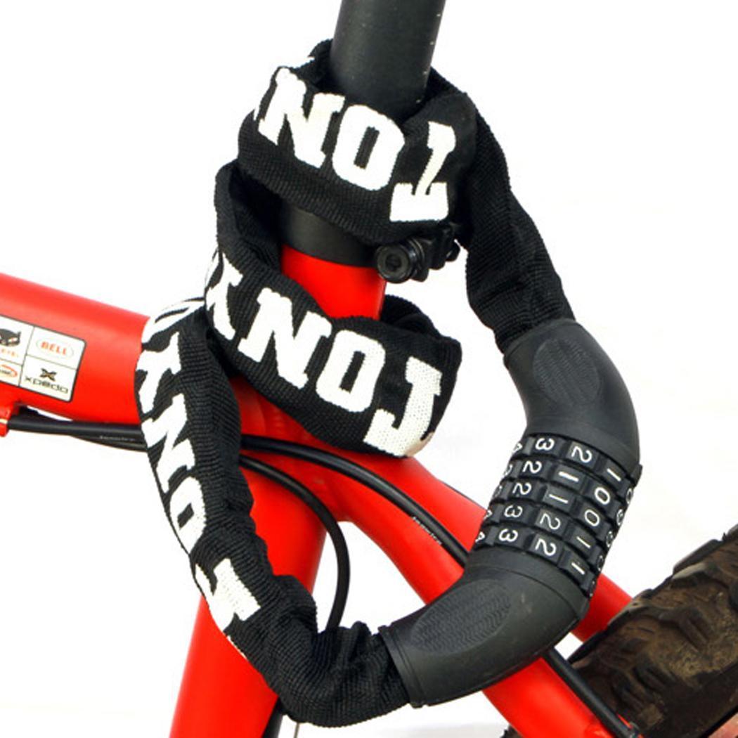 Mode Vélo de verrouillage de sécurité antivol chaîne de verrouillage Pas de clés requis Ouvrir avec mot de passe Nouveau mode de verrouillage de vélos