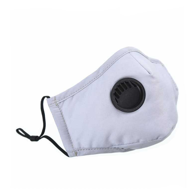 Reusable Unisex Cotton Face Masks With Breath Valve PM2.5 Mouth Mask Anti-Dust Fabric Fliter Mask Washable DROP Ship Epack