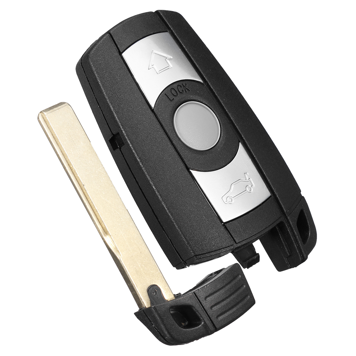 With Blade Battery Remote 3 Button Car Key Shell Case Styling Cover Trim For Bmw 1/3/5/6/7 Series E90 E92 E93 E60 E61 X1 X5 X6
