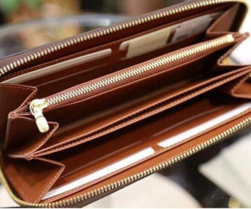 Designer credit card holder classic leather purse folded notes and receipts bag wallet purse distribution box purse wallet notecase 60017