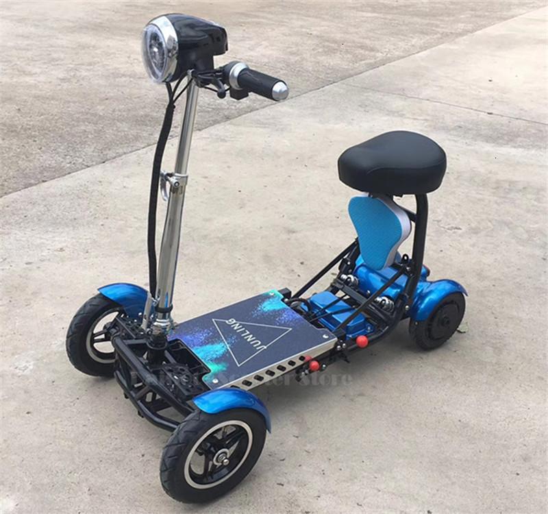 Daibot Four Wheel Electric Skateboard Portable Electric Scooters 10 Inch 36V Foldable Electric Scooter For DisabledElderly (61)
